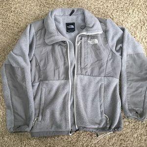 north face denali grey jacket